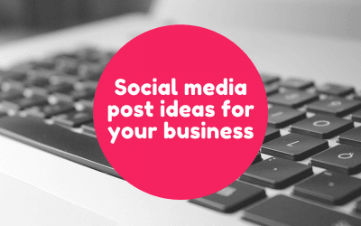 5 social media post ideas for small businesses