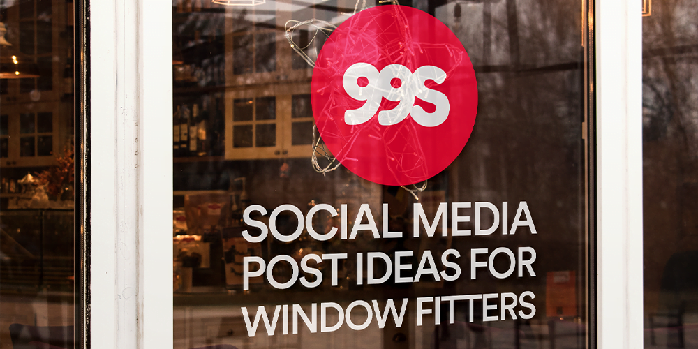 Social media post ideas for window fitters